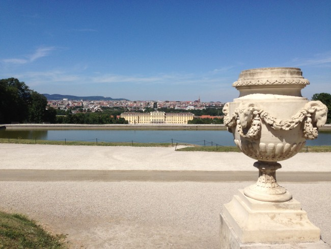 View of Vienna from Schonbrunn Palace.