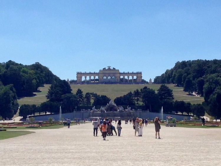 Walk up to the Gloriette atop the hill by Schonbrunn Palace.