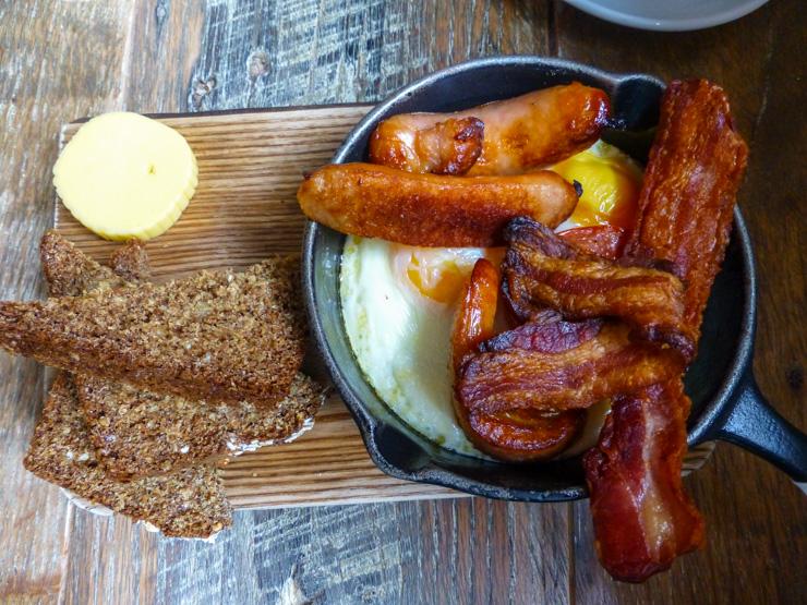 Breakfast at Hatch & Sons Irish Kitchen in Dublin.