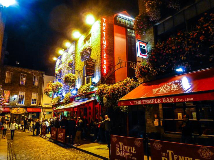 Temple Bar Neighborhood in Dublin