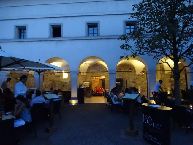 """Gostilna na Gradu, the """"Castle Restaurant"""" in Ljubljana, Slovenia."""