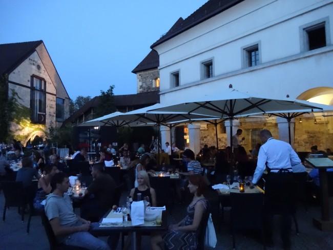 """Gostilna na Gradu, the """"Castle Restaurant"""" in Ljubljana."""