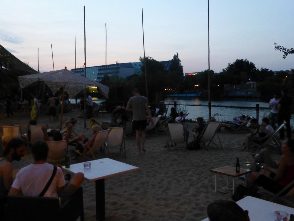 Beach Club at Dusk in Berlin