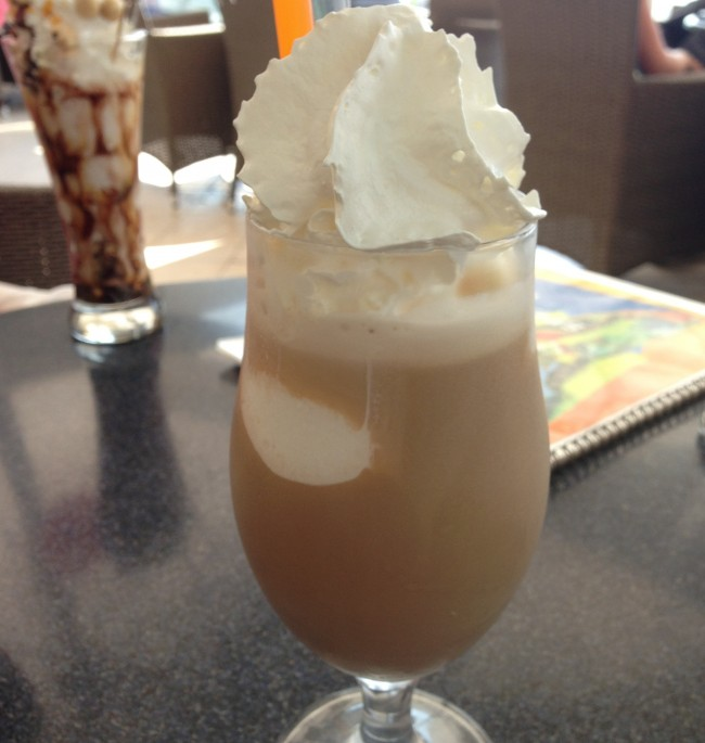 Iced Caffe - super refreshing on a hot summer day in Europe.