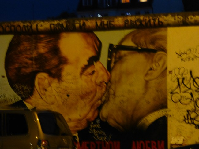 One of the most famous East Side Gallery images.