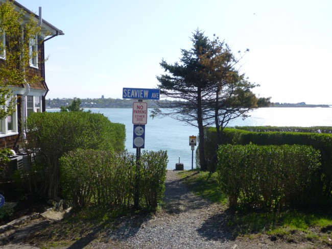 Entrance to Cliff Walk, less than a minute away from Cliffside Inn.