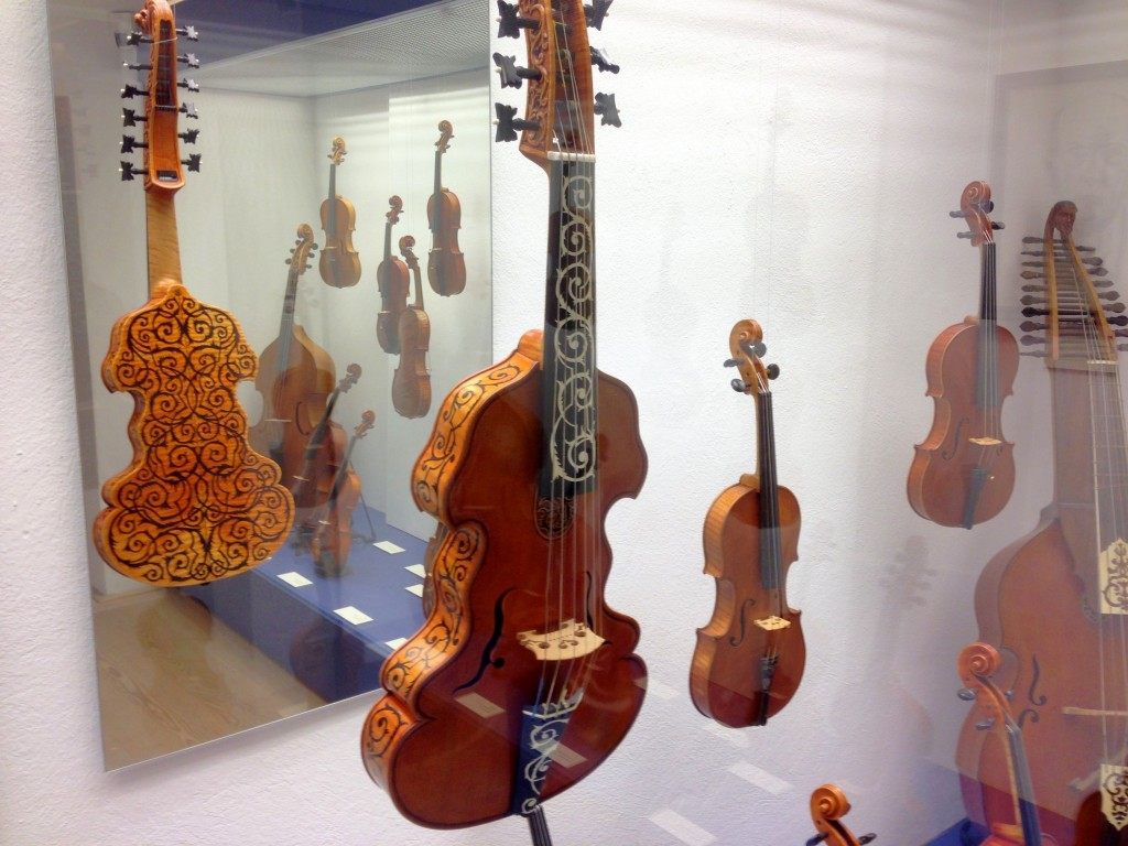 The Geigenbaumuseum in Mittenwald also has interesting looking violins on display like this one.