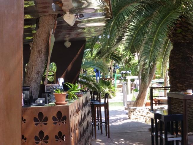 Beach bar at Podstine Hotel.