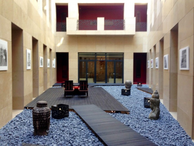 Zen Garden in the middle of Buddha-Bar Budapest hotel.
