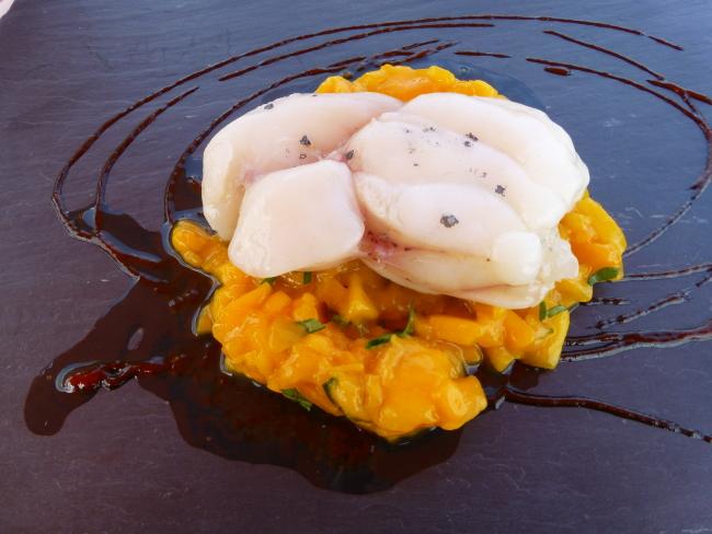 Monkfish with Mango