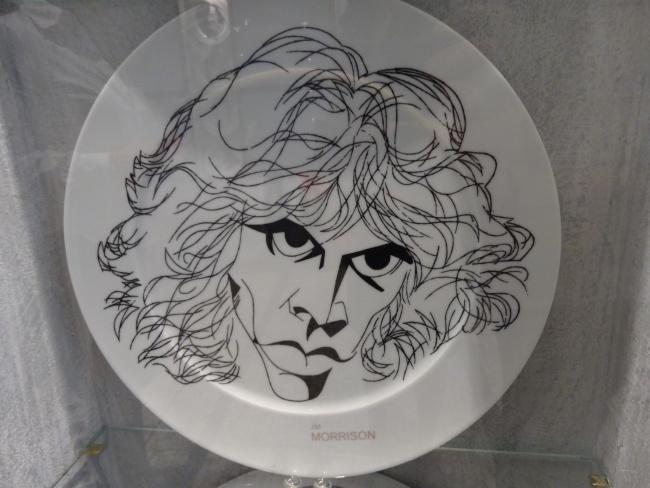 Jim Morrison Josef Blecha Plate