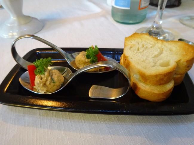 The first taste: a duck amuse bouche