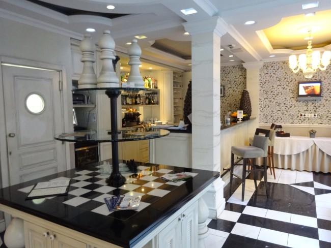 Fun and modern chess decor at Chess Restaurant