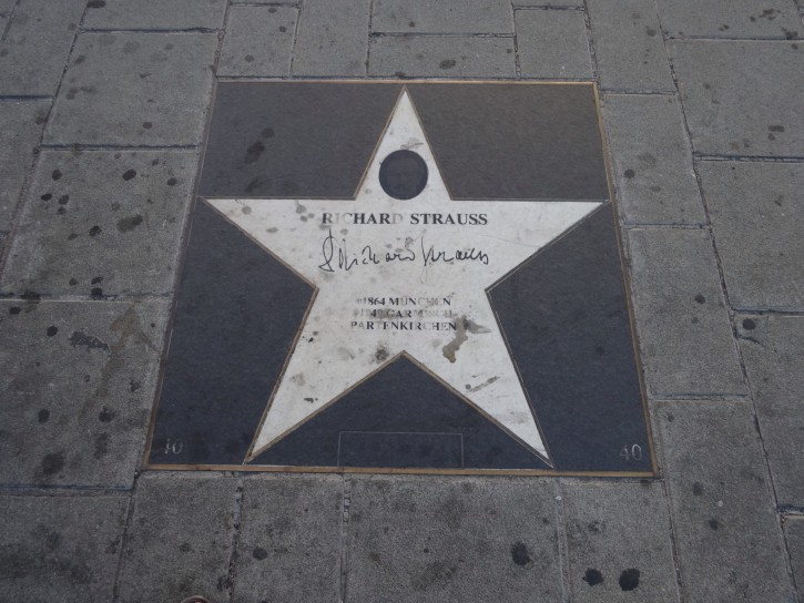 One Day in Vienna: Composer Star on the Sidewalk in Vienna