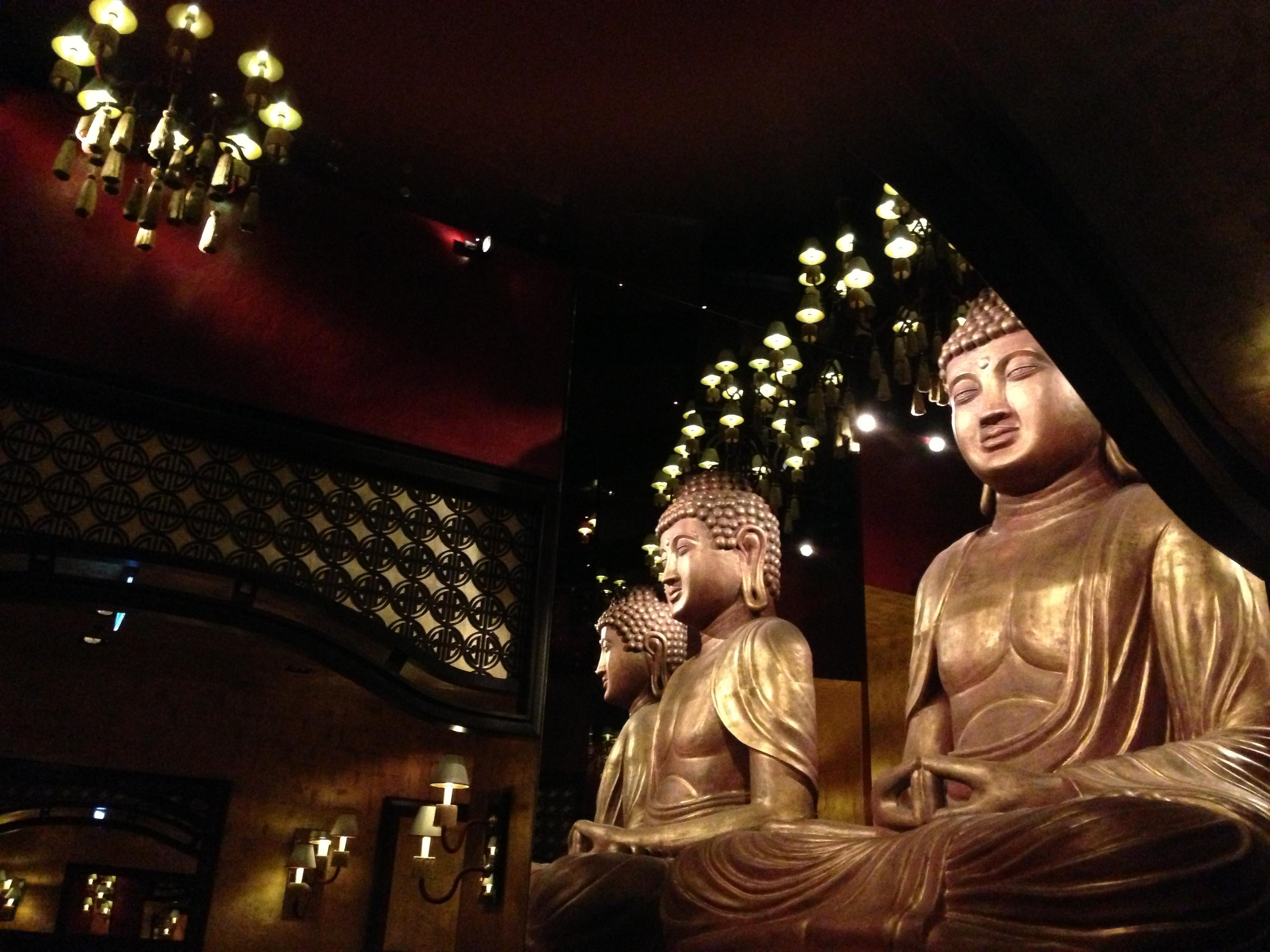 Buddha Statues in Buddha-Bar Restaurant