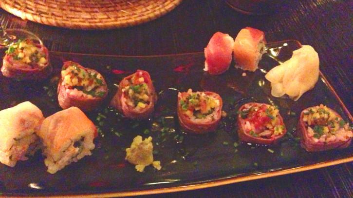 Buddha-Bar Restaurant Sushi Roll Appetizer in Budapest