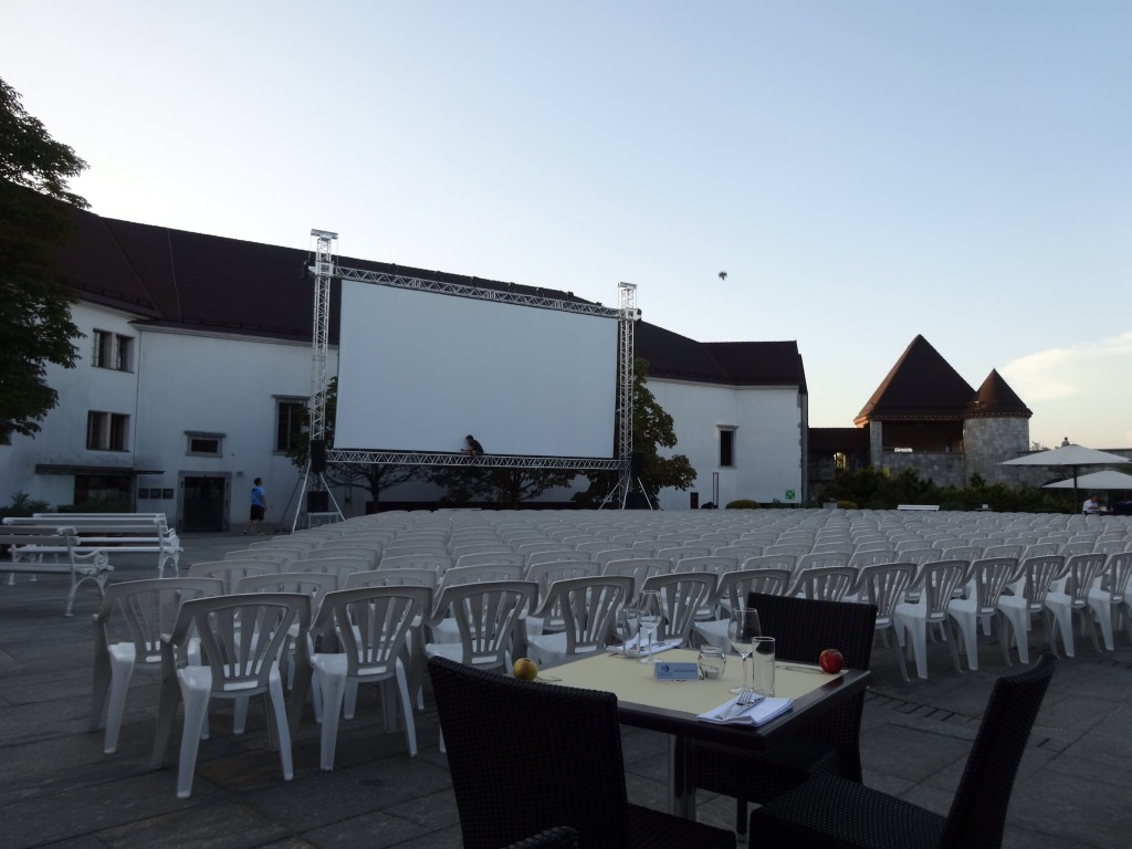 A prime seat for Film Under the Stars in Ljubljana thanks to Gostilna na Gradu.