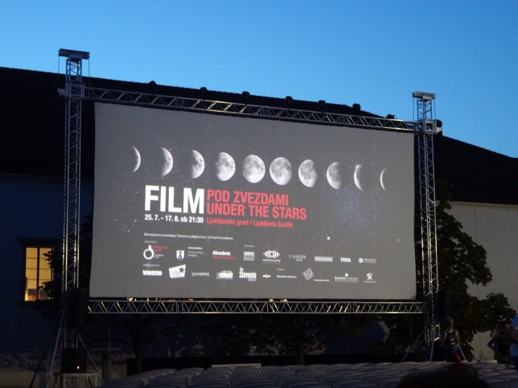 Film Under the Stars in Ljubljana