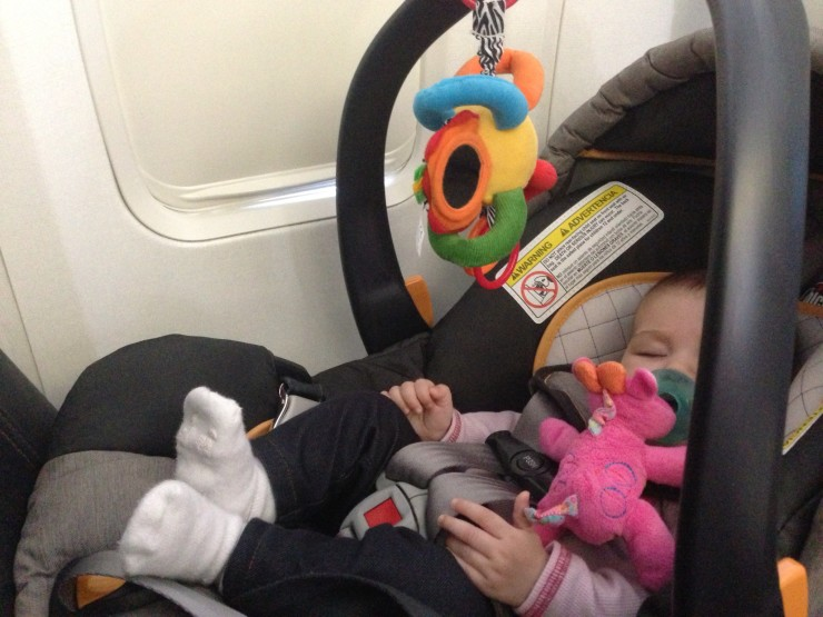 Being stuck on a plane with a baby doesn't have to be bad. In fact, it can be quite fun if the baby has her own seat!