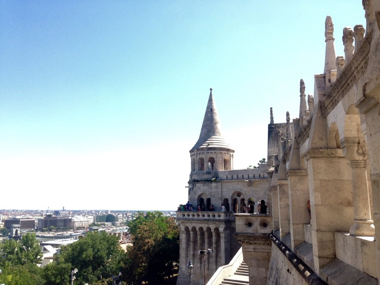 Views from Fisherman's Bastion in Budapest