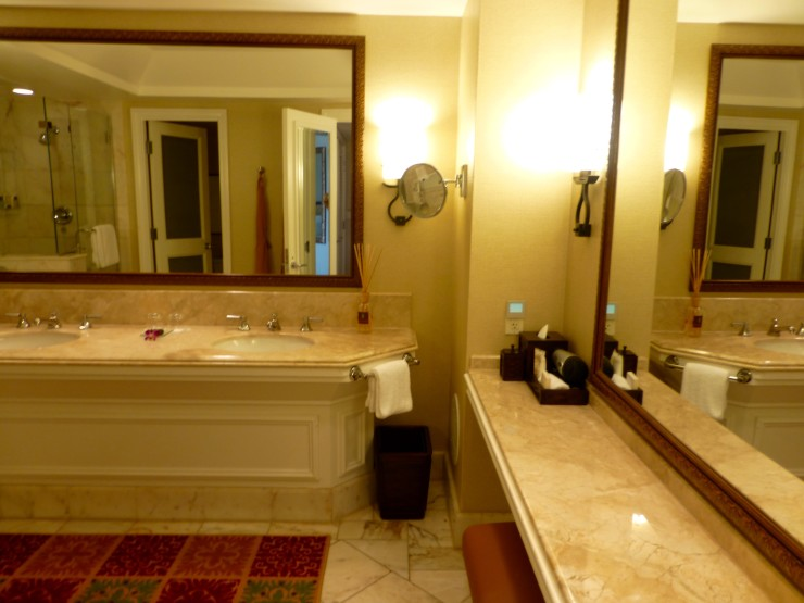 Four Seasons Maui Bathroom - I loved the huge vanity.