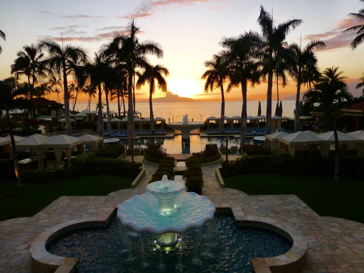 Sunset at Four Seasons Maui at Wailea.