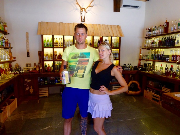 Seriously, how cute are they? And they own a schnapps shops. CUTE AND AWESOME.