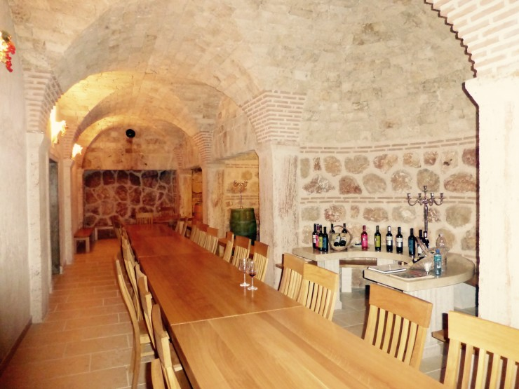 The tasting room provided the perfect ambiance for tasting some Croatian wines.
