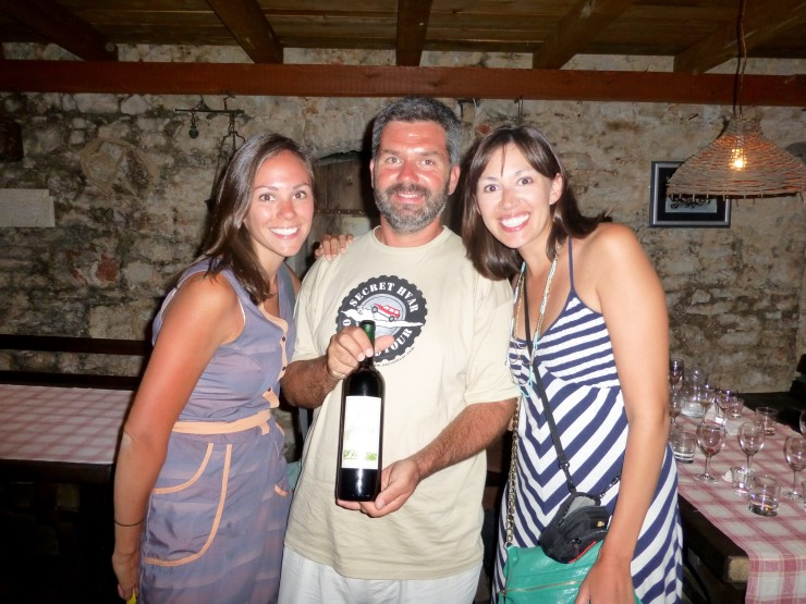 My sister and I with Sinisi, owner of Secret Hvar.