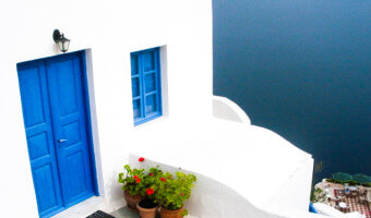 One example of the stunning architecture of Santorini.