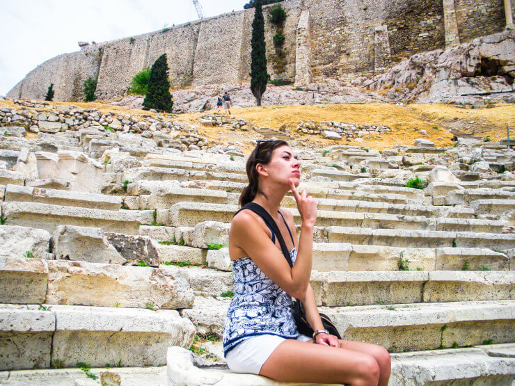 After trekking through Athens in the ancient footsteps of so many great and powerful thinkers, you may even find yourself a little wiser...pondering life on what's left of the seats of the old Acropolis theater.
