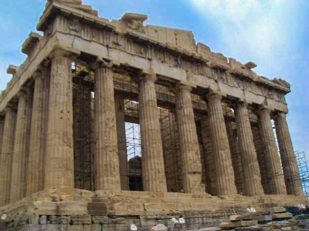 The Parthenon at the Acropolis.