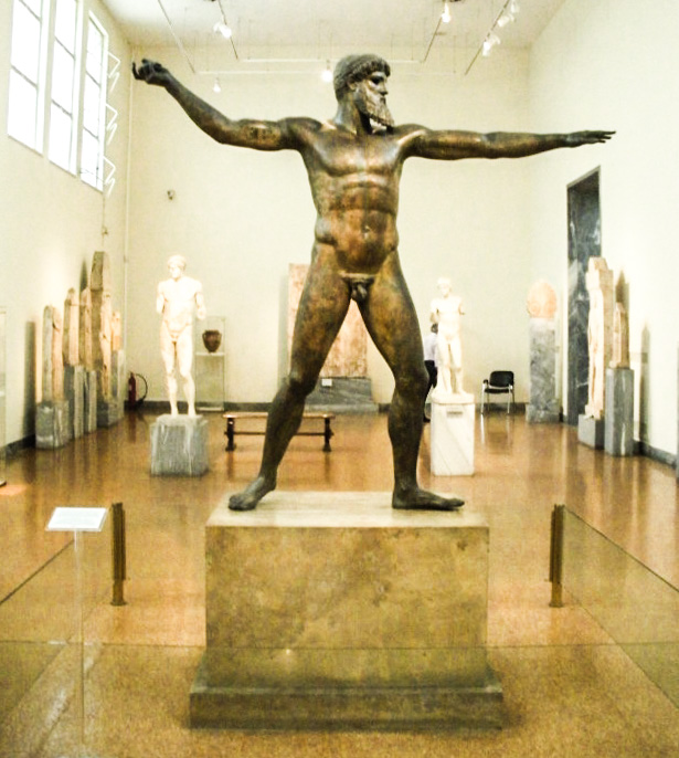 Bronze statues of Zeus (or possibly Poseidon - the experts can't decide) at the National Archaeological Museum.