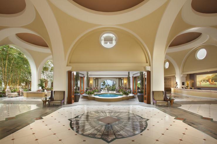 Gorgeous lobby in the Fairmont Kea Lani.