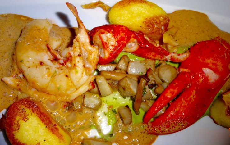 Buttery, yummy lobster (and shrimp) at Kampa Park