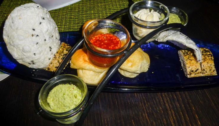 Bread and Crackers at Ko at Maui Fairmont