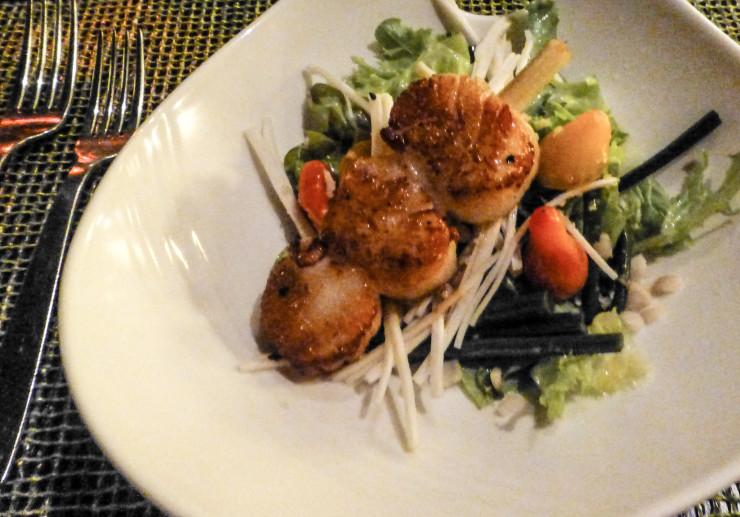 Delicious, healthy-tasting scallops at Ko Restaurant at Fairmont Kea Lani