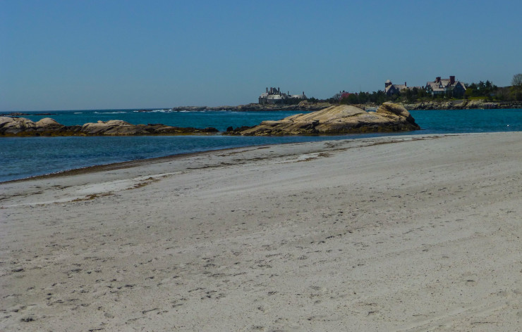 Gooseberry Beach Along Ocean Drive in Newport, Rhode Island