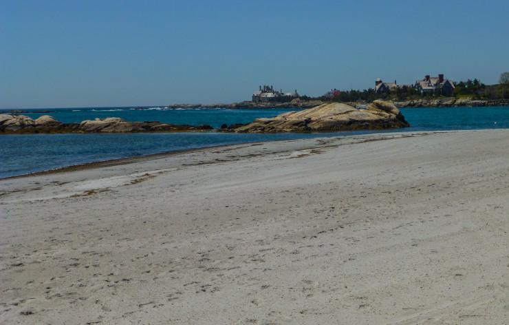 Gooseberry Beach Along Ocean Drive in Newport, Rhode Island
