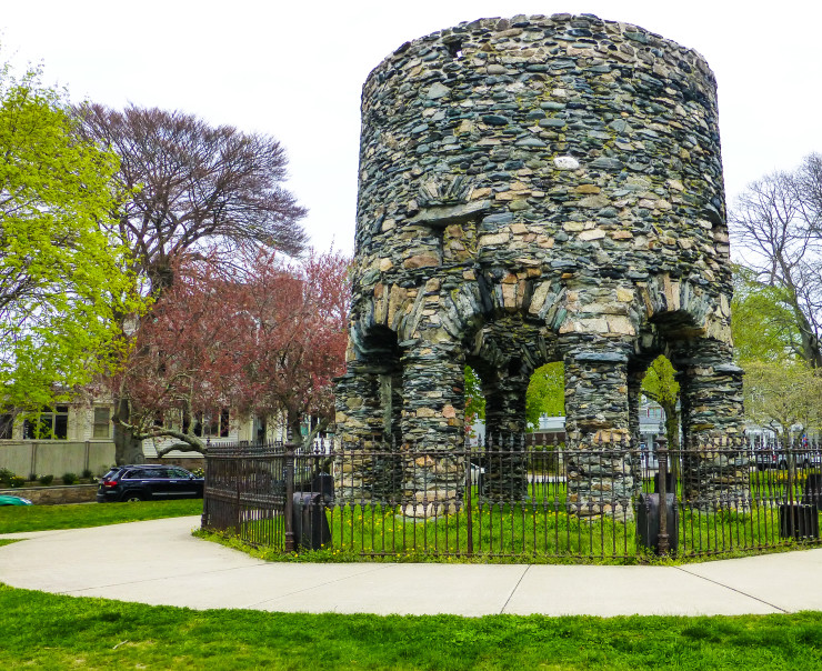 Newport Tower in Touro Park
