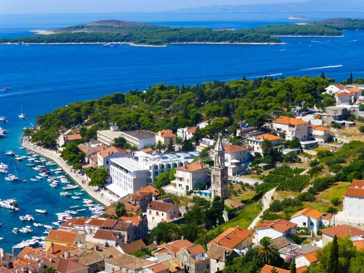 Try to take a ferry into Hvar Town if possible when visiting Hvar.