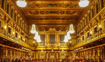 Vienna's opulent Musikverein, home of the Vienna Mozart Concert.