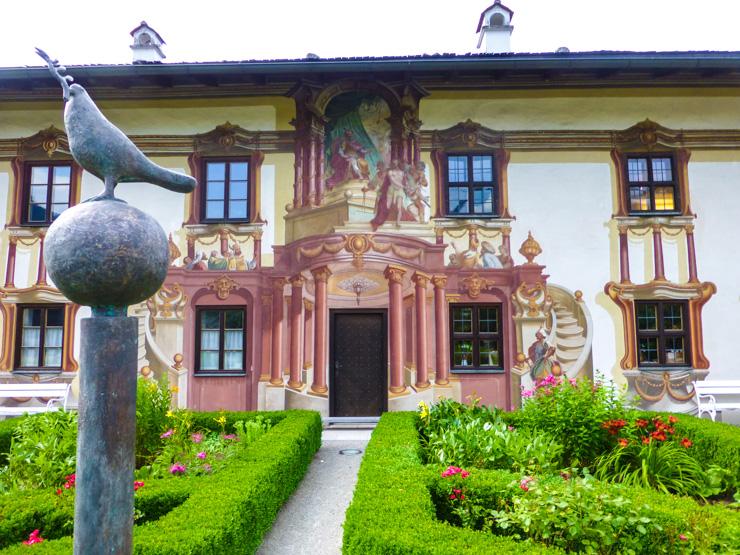 Frescoed building in Oberammergau, Germany
