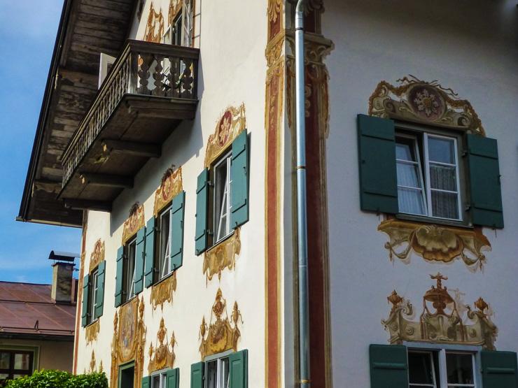 Frescoed windows in Oberammergau, Germany