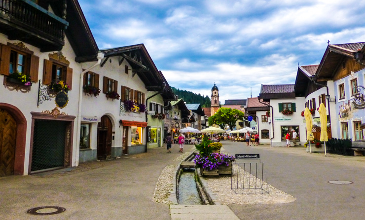 The main street of Mittenwald, Germany