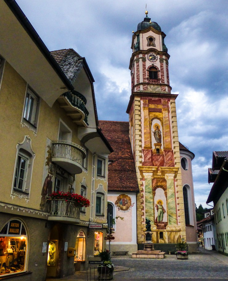 Church of St. Peter and St. Paul in Mittenwald, Germany.