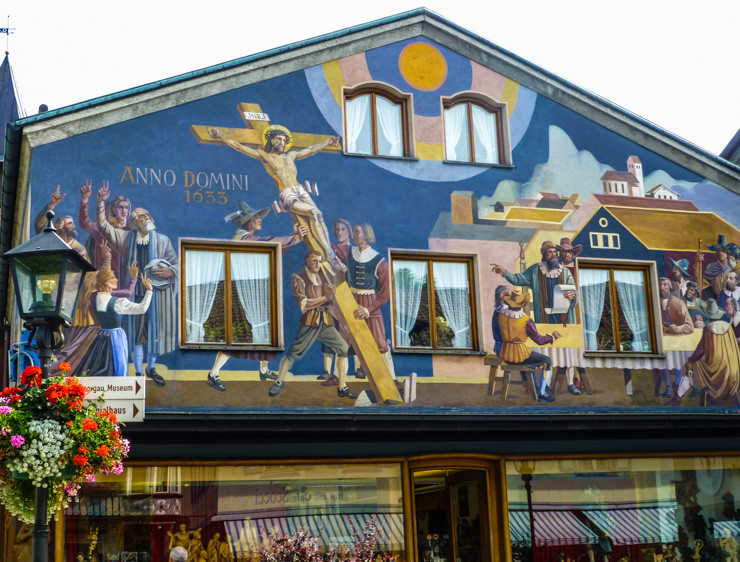 Frescoed Building in Oberammergau, Germany