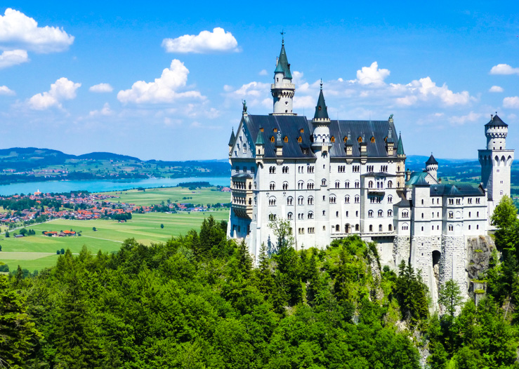 "Neuschwanstein Castle, the ""Sleeping Beauty"" Castle, in Bavaria, Germany"