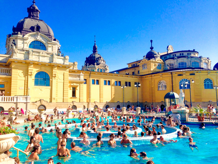 Visiting a natural spa is just one way to find romance in Budapest.