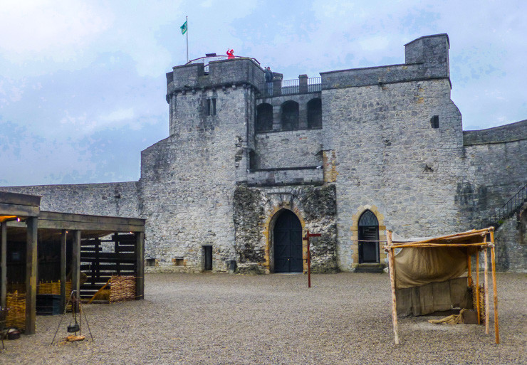 St. John's Castle plays a big part in Limerick's history.